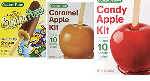 Concord Foods Variety PackCaramel AppleCandy Apple and Banana Pops