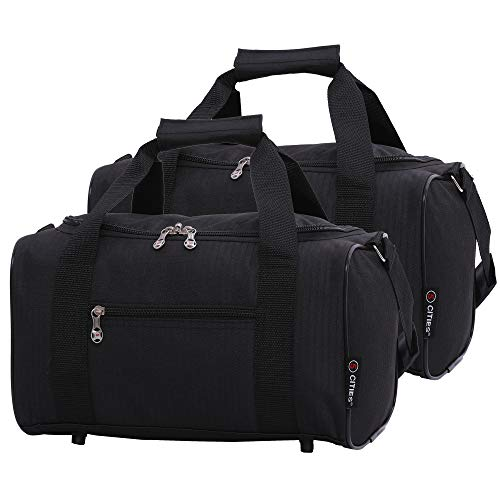 Airline Approved Flight Bags Holdall for Delta United Southwest & More | Underseat Hand Luggage for Men & Women | Travel Duffel With Large Storage Capacity | Lightweight & Small