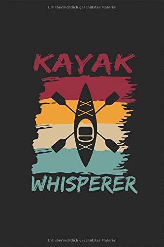 Kayak Whisperer - Kajak Flüsterer: Zweier Kajak Retro Silhouette Kanusport Paddelboot Einer-Kajak Notizbuch Planer Kalender Taschenbuch ... für DIN A 5 Taschenkalender 120 Seiten