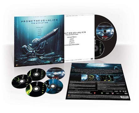 Prometheus to Allien: Evolution Collection - 5-DVD Vintage Set ( Prometheus / Alien / Aliens / Alien³ / Alien: Resurrection ) [ Spanische Import ]