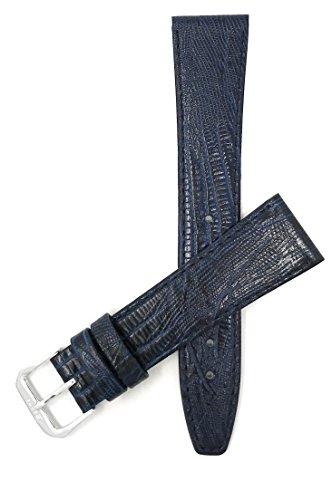 Leder Uhrenarmband 12mm, Blau, dünn, Eidechsenmuster, auch verfügbar in schwarz, braun, hellbraun