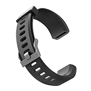 Correa de reemplazo ID115Plus HR - Bandas de reemplazo de TPU Ajustables para 115Plus HR Pulseras Inteligentes Fitness Trackers (Negro + Púrpura)