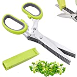 Herb Scissors Set with 5 Blades and Cover,...