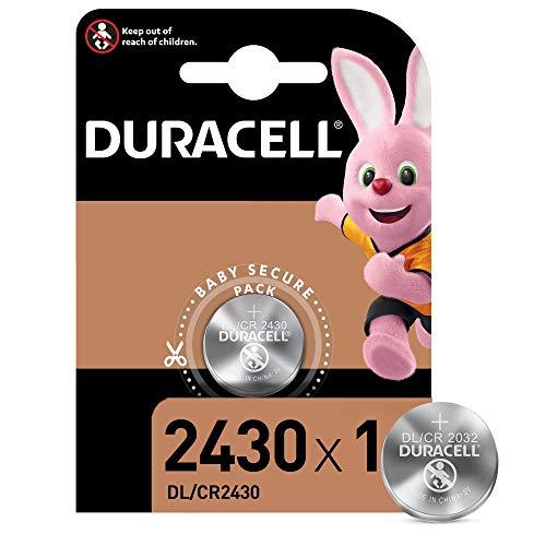 Duracell 2430 Pile Bouton Lithium 3V, Lot de 1, (DL2430/CR2430) pour Porte-clés, Balances et Dispositifs Portables et Médicaux