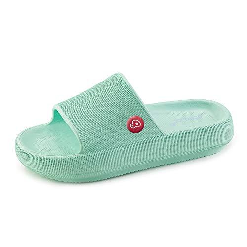 Schu'zz – Chancla para mujer – Ligera, suave y ultra cómoda, suela gruesa – Ideal para el hogar, vacaciones y ocio, Azul (aguamarina), 40 EU