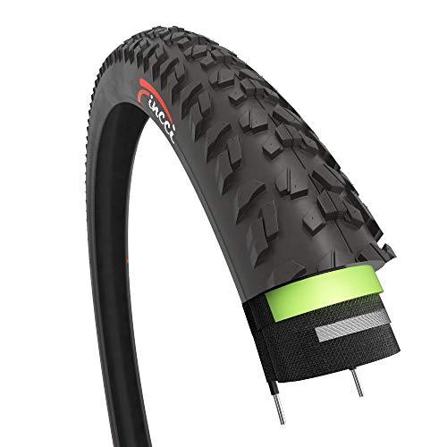 Fincci 26 x 1,95 Pulgadas 52-559 Cubierta con 2.5mm Anti Pinchazo 60TPI para MTB Montaña Hibrida Bici Bicicleta