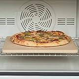Vitaisa Pizza Pan for Ofen Und Grill, Backstein Thermoschock, Rechteckige Pizza Stein...