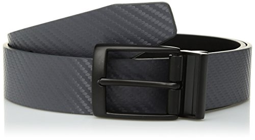 Nike Men's Standard Carbon Fiber-Texture Reversible Belt, dark grey/black, 38