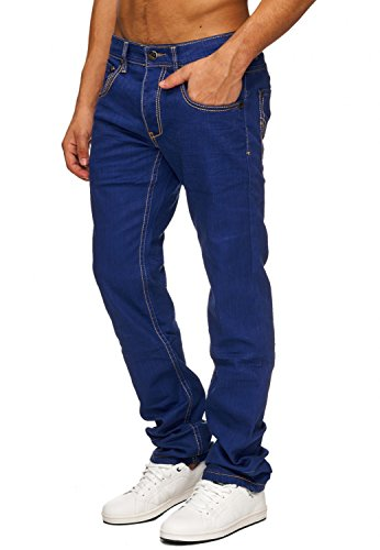 ArizonaShopping Jeansnet Herren Jeans Hose Denim Kontastnähte H1484, Farben:Blau, Größe Jeans:W33