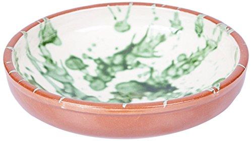 Amazing Cookware Bol Splatter en Terre Cuite, Vert, 25 x 25 x 7.5 cm