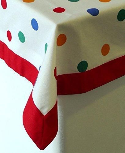 Sterck - 100% mantel de lunares multicolor - - algodón - 140 x 180 cms