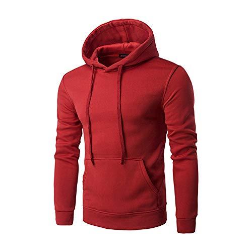 SFYZY Casual Hoodie Herren Spring Autumn Hooded Pullover Slim Fit Sweatshirt Einfarbige Herren Casual Langarm Hoodies Solid Colors Sweatshirt