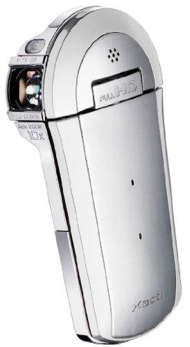 Sanyo Xacti VPC-CS1EX Full HD-Camcorder (SD/SDHC-Card, 9-Fach Opt. Zoom, 6,9 cm (2,7 Zoll) Display) Silber