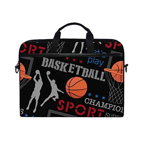 AGONA Basketball Laptop Shoulder Messenger Bag 15 inch Case Sleeve for 14 Inch Laptop Case Laptop Briefcase Compatible Notebook Ultrabook Chromebook