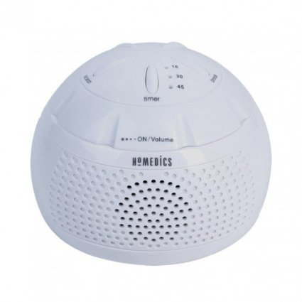 Homedics Sound Spa Mini Portable Sound Machine (White)