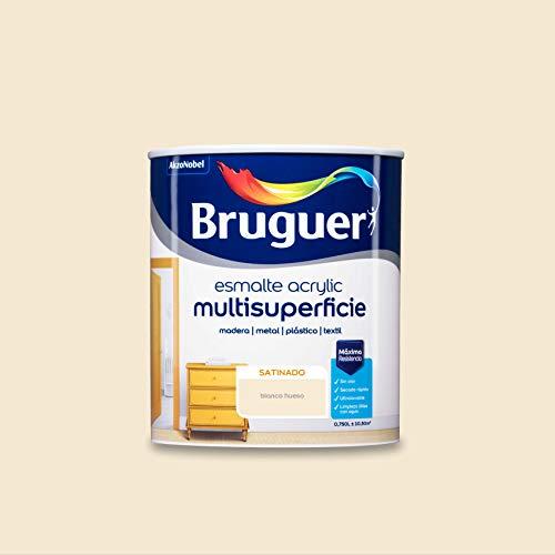 Bruguer Acrylic Multisuperficie Esmalte al agua Satinado Blanco Hueso 750 ml