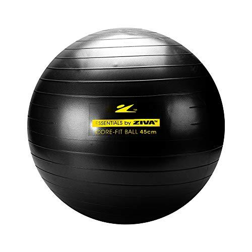 Bola de Pilates 45 cm Funcional Preto Ziva