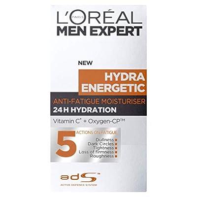 L'Oreal Paris Men Expert Hydra Energetic, Anti-Fatigue Moisturiser for Men, 50 ml