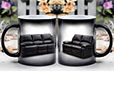 Amymami Personalized Gifts Heat Changing Magic Coffee Mug - Leather Sofa Recliner Sofa Furniture Lounge Suite