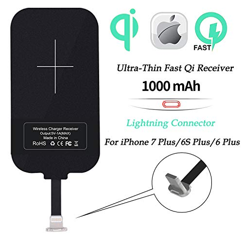Nillkin Qi Charging Receiver, Thin Wireless Charging Receiver, Wireless Charger Receiver Ultra Thin Universal for iPhone 7 Plus/6S Plus/6 Plus(Long Version)