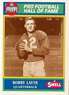 Bobby Layne football card (Detroit Lions) 1990 Swell #68 Hall of Fame