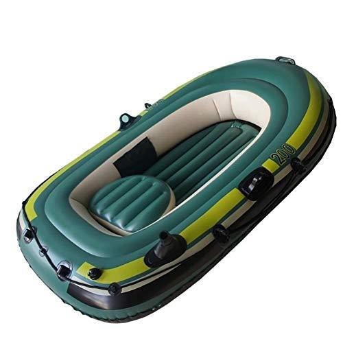 GUOE-YKGM Kayak Faltkajak - Aufblasbares 2-Personen-Kajakset Mit Schlauchboot Und Zwei Aluminiumrudern - Angler- Und Freizeit-Angelkajak