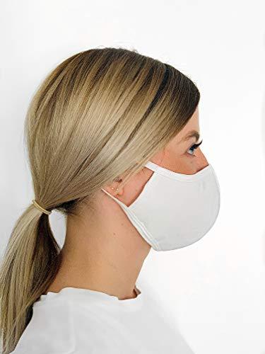 5 Stück antibakterielle Community-Maske von VINATEX, Anti-Staub-Maske, Mund-Nase-Schutzmaske, Stoffmaske, wiederverwendbar, waschbar, 3-lagig