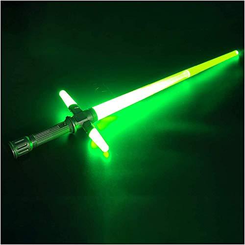 Y&Z Espada Laser Star Wars, Tipo telescópico Sable de luz electrónica, Fuerza Despierta con Efectos de Sonido Toy Toy Light Sable, 39~72cm Cumpleaños de cumpleaños Halloween, Green