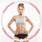 AMTB Hula Hoop,Gewichtsverlust Schlankheits Kreis abnehmbare Schaumbeschichtung Massageknopf Wellenstruktur,für Gewichtsverlust Fitness-Training,6 Knots