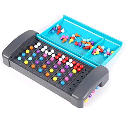 flouris Montessori Mastermind Brettspiel Spielzeug Für Kinder Pädagogisches Mini-Reisespiel Spielzeug Puzzle Brettspiel Für Die Intellektuelle Entwicklung