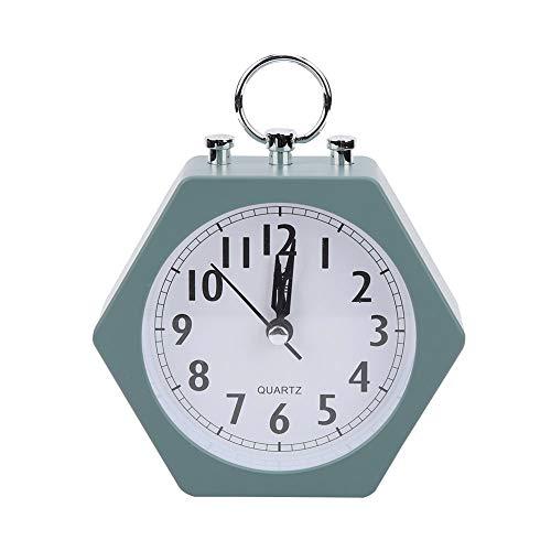 Wake Up Reloj digital, portátil para viajes Agradable para despertador de cabecera para un gran regalo Despertador escolar para mesa, escritorio, estantería, dormitorios(green, 12)