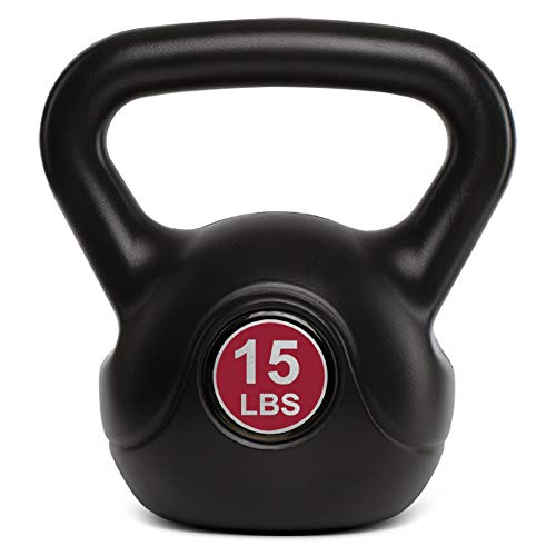 TKO Kettlebell | Dumbbell Weight, Plastic Shell for Home Gym, Workouts, Men and Women Cross Training, Core Fitness, Weightlifting, Fat Burning (8 lb)