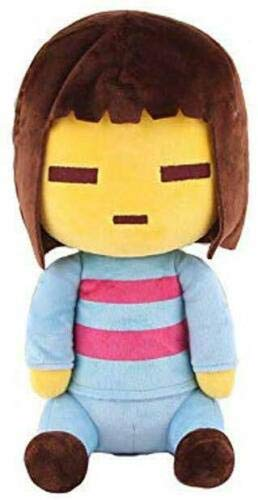 SAGUSI 25cm 1pcs    Undertale Plush Toy Undertale Sans Papyrus Frisk Chara Temmie Undyne Plush Stuffed Toys Doll Gift for Children Kids (Frisk)