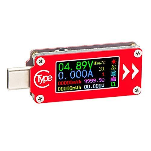 DollaTek TC64 Typ C Farbe LCD-Anzeige USB Voltmeter Amperemeter Spannung Stromzähler Multimeter Batterie PD Aufladen Power Bank USB Tester