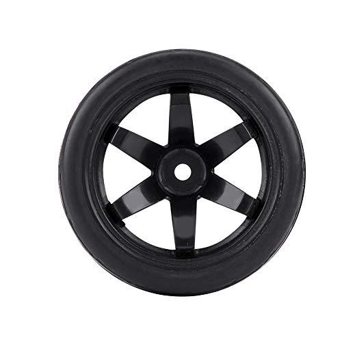 ROMACK Neumáticos Todoterreno Resistentes portátiles Ligeros duraderos 4pcs Neumáticos Todoterreno 1/10 para Coche RC 1:10(Word Tire Flower Black 5-Hole Outline)