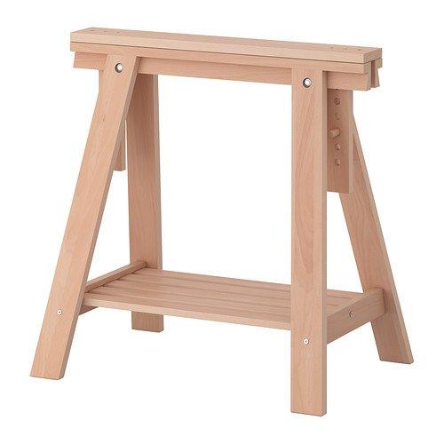 Ikea FINNVARD - Caballete con Estante, Haya - 70x71 / 93 cm