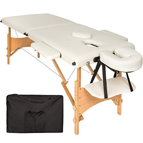 TecTake Camilla de masaje mesa de masaje banco 2...
