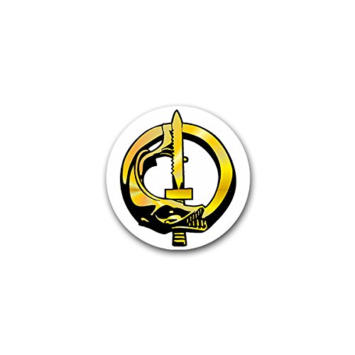 Sticker #A2408 Vreemde Legioen, Duiker, Barracuda Vis, Combat Mes, Combat Zwemmen, Eenheid, Militaire Crest/Badge/Embleem, 7 x 7 cm