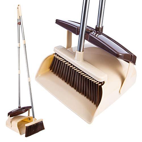 OLLSDIRE Broom and Dustpan