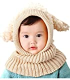 Bienvenu Kids Hat Winter Cold Weather Crochet Earmuff Beanie Hat Scarves Neck Warmer 1 Piece Set,...