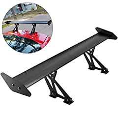 "【WIDE APPLICATION】 - Length: 110cm/43.3"" (Maximum Distance);Distance Between two brackets: 48cm/18.9"" 【DELICATE DESIGN】 - Universal GT Type-V Matte Black Lightweight Aluminum Spoiler Wing 【SPORTY AND STYLISH LOOK】 - Adjustable angels for customizable..."