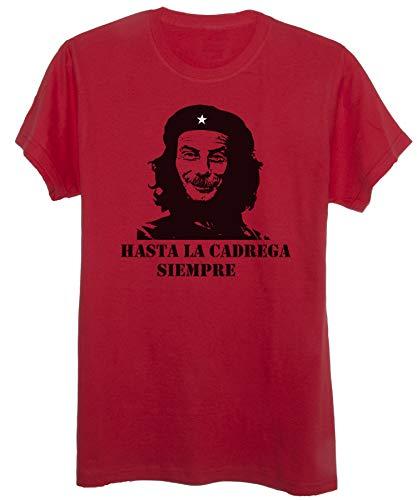 New Indastria T-Shirt Hasta La Cadrega Siempre - Divertente - Donna-M-Rossa