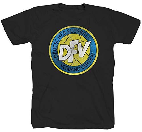 DFV Fussballverband der DDR DFB Ostdeutschland schwarz T-Shirt (S)