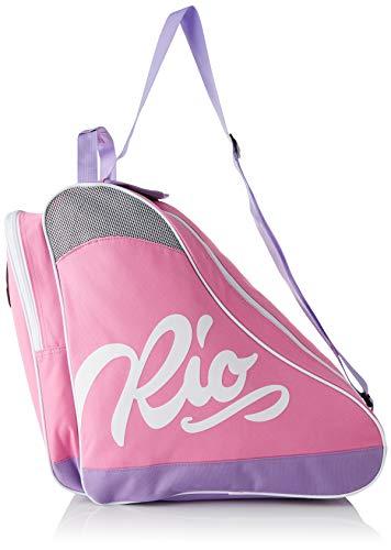 Rio Roller Script Skate Bag, Bolsa de tela y de playa Unisex Adulto, Multicolor (Pink/Lilac), 24x15x45 cm (W x H x L)