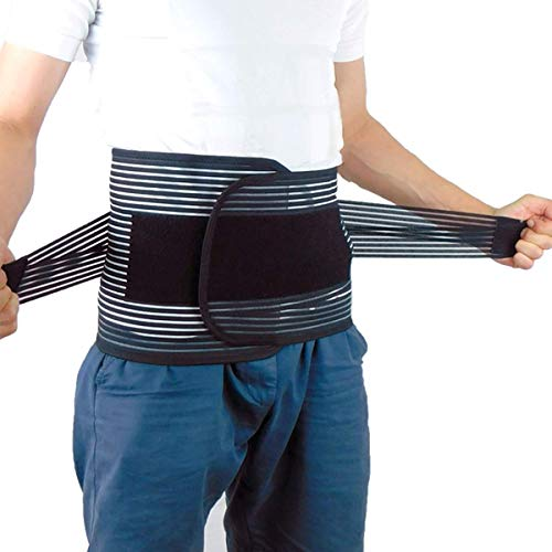Relieved Life 加圧 伸縮 腰痛ベルト 腰痛コルセット お腹引き締めサポート 姿勢矯正でインナーマッスルを...