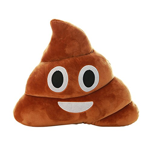 Levohome Emoji Smiley Emoticon Cushion Pillow Stuffed Plush Toy Doll Poop Face Smiley Poop Pillow 35CM by Levohome
