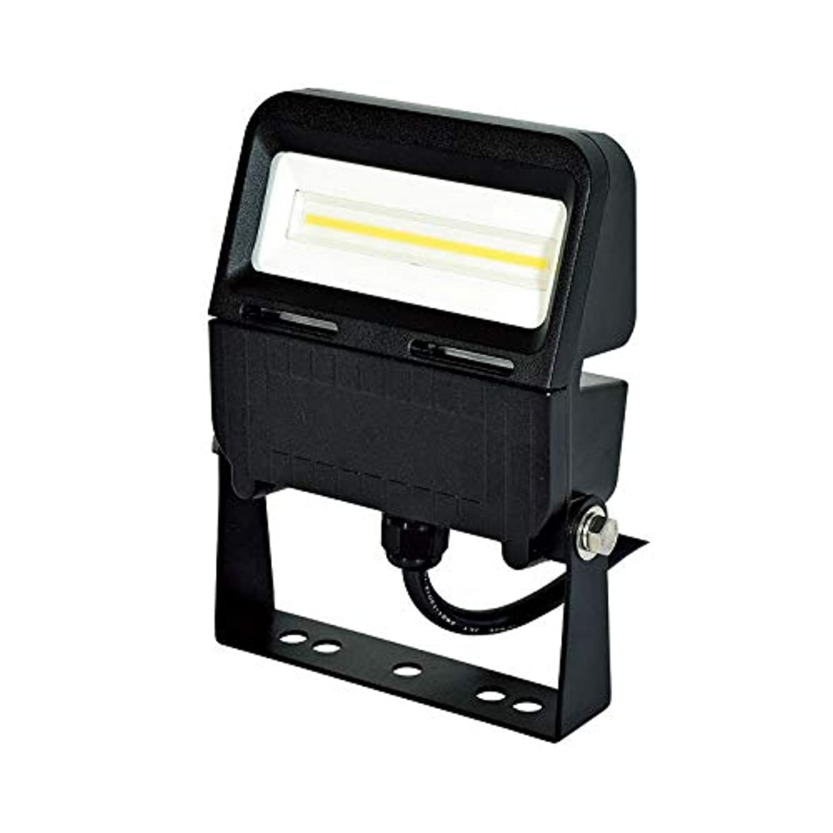 モンキー周り治す日動工業 LED投光器 フラットライト20W 常設用 水銀灯100W相当 昼白色 ワイドタイプ ブラック LJS-F20D-BK-50K