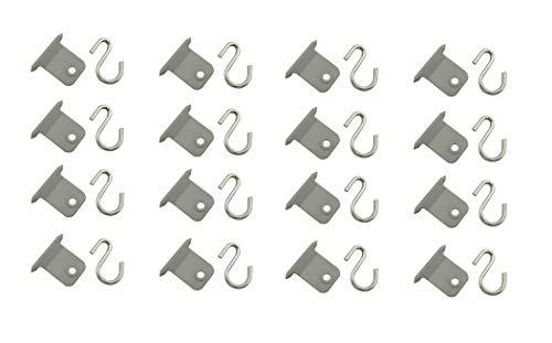 READY Juego de ganchos para toldos con forma de S para autocaravana, caravana, caravana (16 unidades)