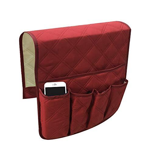weichuang Bolsa de almacenamiento para sofá o silla, soporte para brazo organizador para sofá, mando a distancia, bandeja de almacenamiento (color: A)