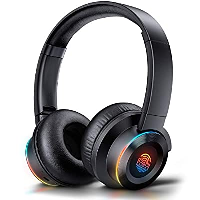 3 IN 1 Headphones Over Ear Wireless headset, [40 Hrs Playtime]Touch Control Bluetooth Headset, Foldable with Stereo Bass, Soft Memory Protein Earmuffs, Built-in Mic, Wired Mode for PC/Phone/TV JOYROOM by Edorreco